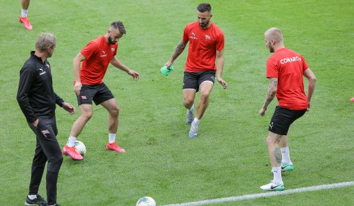 The official training session before the Polish Cup final [PHOTOS]